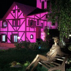 Скульптура Дама, ночь, КП Николино