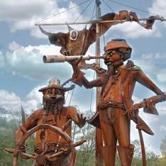 Скульптура Пираты в поселке Николино