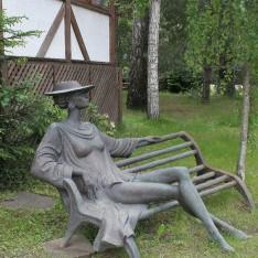 Скульптура Дама в КП Николино