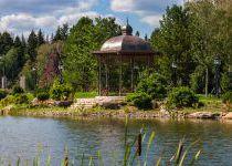 Беседка у малого озера, поселок Николино